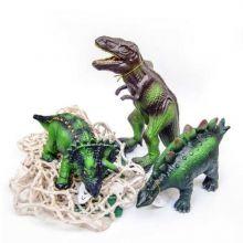 Dyr i 100 % naturgummi - Dinoer, 3 stk