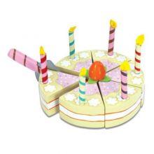 Legemad - Fødselsdagslagkage med lys, træ
