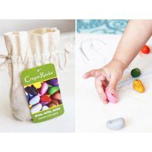 Farvekridt - Crayon Rocks 8 stk i stofpose