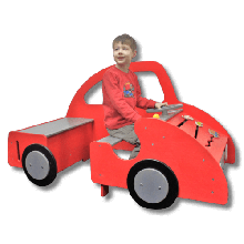Legebil med aktiviteter - Stor