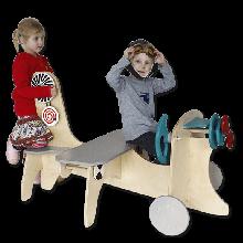 Legehjørne - Flyvemaskine