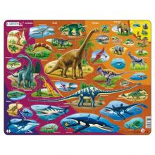 Larsen puslespil - Dinosaurer, 85 brikker