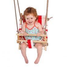 Gynge - Baby med kanvassæde