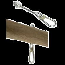 Gyngetilbehør- Krog med karabin, 160mm