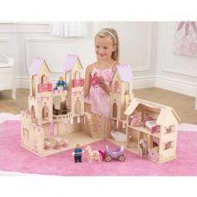 Prinsesseslot med dukker