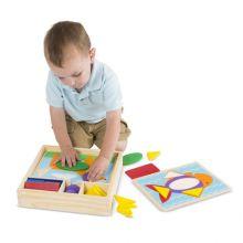 Geometri-puslespil i box