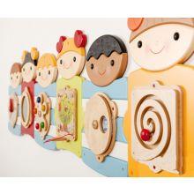 Vægpanel - Søde børn, 7 paneler