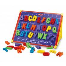 Magnettavle med bogstaver, inkl. æ,ø,å