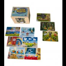LilleStorm - Luksusudgave i træ m. 4 spil