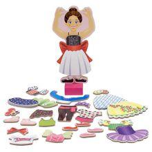 Magnetisk påklædningsdukke, ballerina