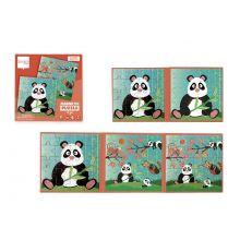 Magnetpuslespil i bog - Panda