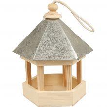 Mal selv - Fuglefoderhus med zinktag