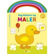 Malebog m. håndtag og klistermærker: And