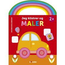 Malebog m. håndtag og klistermærker: Bil