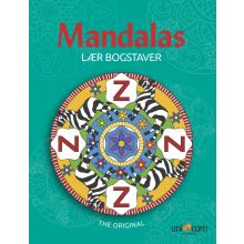 Mandalas malebog - Lær bogstaver