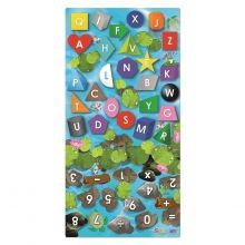 Læringstæppe - Form, farve, tal + bogstaver