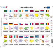 Memo Puslespil - Lande og Flag