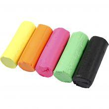 Modellervoks Soft Clay - Neonfarver, 400 gr.