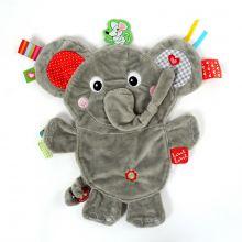 Nusseklud med taggies - Elefant