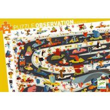 Observationspuslespil m. 54 brikker - Racerløb