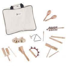 Percussionsæt med 9 instrumenter