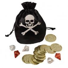 Piratpung med guld og diamanter