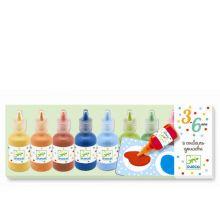 Plakatfarver i flasker, 8 stk.