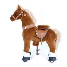 Rid Selv - Hest, lysebrun m. hvid blis, Medium