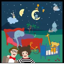 Popsi og Krelle Megakort - Godnat