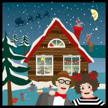 Popsi og Krelle Megakort - Jul