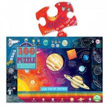 Puslespil m. 100 brikker - Solsystemet