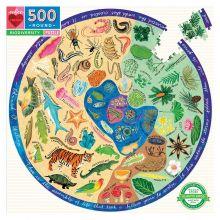Puslespil m. 500 brikker - Biodiversitet