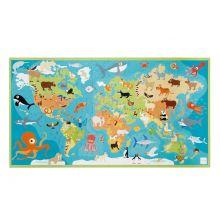 Puslespil til gulv, 100 brikker - Verdens dyr