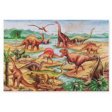 Puslespil til gulv - 48 brikker Dinosauer