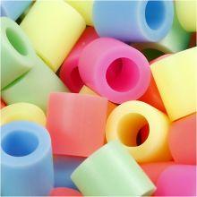 Rørperler maxi - Pastelfarver, 550 stk.