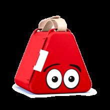 Teebee opbevaringsboks inkl. tegnegrej - Rød