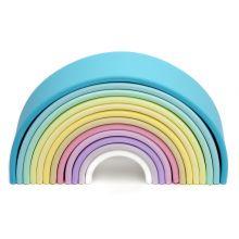 Regnbue i silikone - Pastelfarver, 12 dele