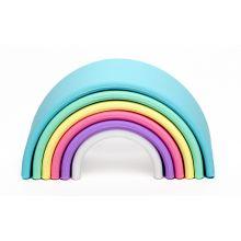 Regnbue i silikone - Pastelfarver, 6 dele