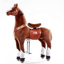 Rid Selv - Hest, brun m. hvide ben, Large