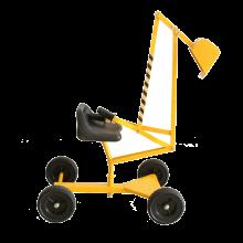 Sandleg - Gravemaskine med hjul