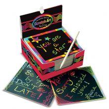 Scratch Art - Skrabekunst Regnbuekort