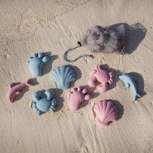 Sandforme i silikone - Nordiske farver, 4 stk.