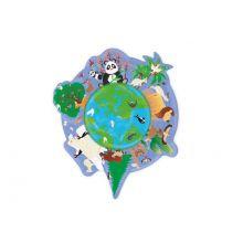 Silhuetpuslespil m. 45 brikker - Jorden