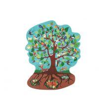 Silhuetpuslespil m. 58 brikker - Fugletræet