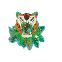 Silhuetpuslespil m. 59 brikker - Tiger