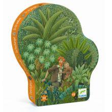 Silhuetpuslespil med 54 brikker - I junglen