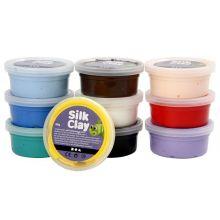 Silk Clay 10 x 40 gr. - Basisfarver