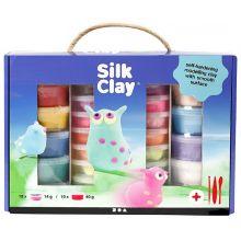 Silk Clay i gaveæske, 28 bøtter + værktøj