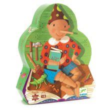 Silhuetpuslespil med 50 brikker - Pinocchio