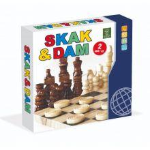 Skak & Dam i træ